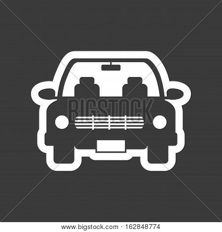 car vehicle icon over black background. vector illustration
