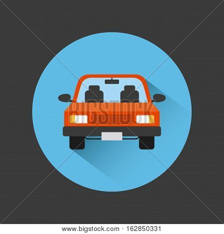 car vehicle icon inside colorful circles over balck background. vector illustration