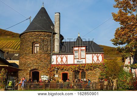 Restaurant In The Wine-growing Municipality Of Merl, Germany
