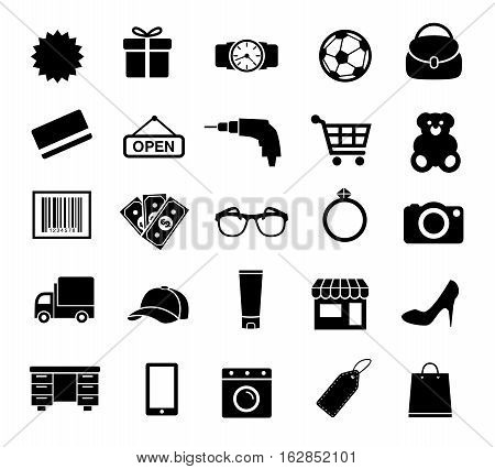 Vector Illustration of Shopping Icons. Best for Shopping, Business, Internet, Design Element concept.