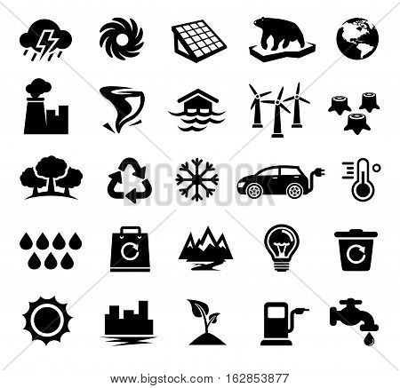 Vector Illustration of Climate Change Icons. Best for Environment, Ecology, Climatology, Conservation, Design Element concept.