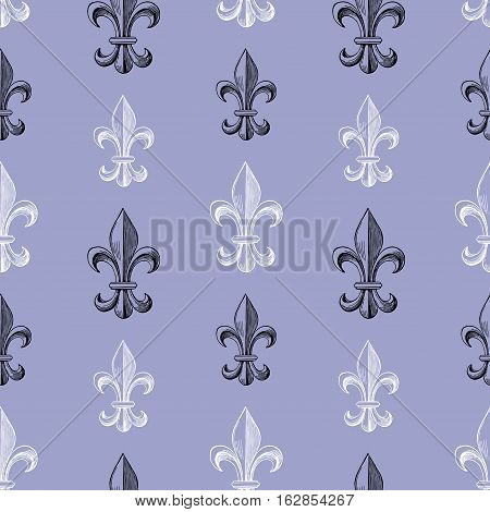 Vector pattern of the symbol of the medieval french lily.