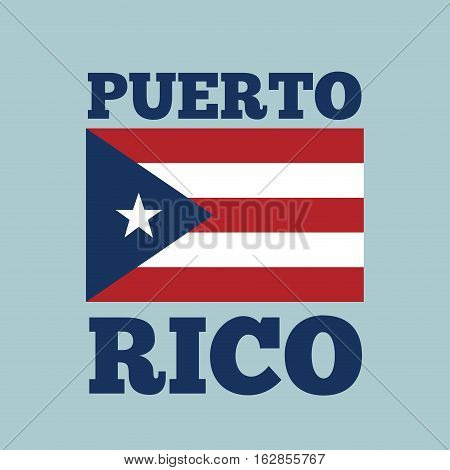 puerto rico country flag icon over blue background. colorful design. vector illustration