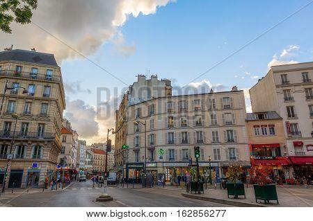 Street Scene In Belleville, Paris