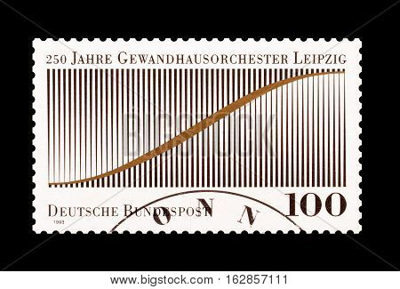 GERMANY - CIRCA 1993 : Cancelled postage stamp printed by Germany, that promotes Gewandhaus Orchestra.