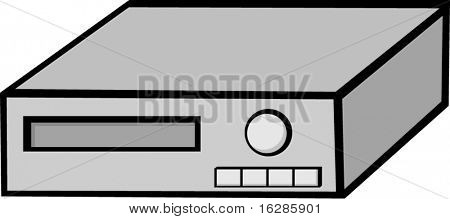 video cassette recorder vcr or dvd player