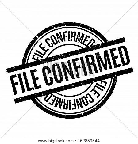 File Confirmed rubber stamp. Grunge design with dust scratches. Effects can be easily removed for a clean, crisp look. Color is easily changed.