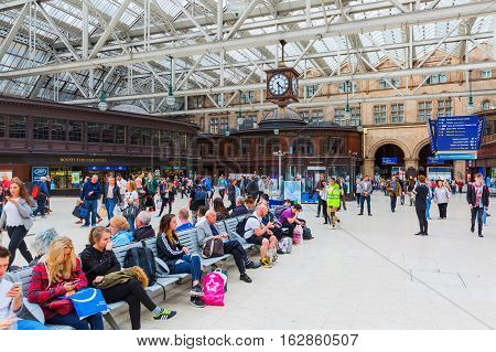 Inside The Central Station In Glasgow, Scotland, Uk