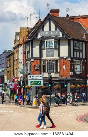 Street Scene With Historic Buildings In Camden, London, Uk