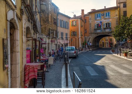 Street View In Fayence, Var, France