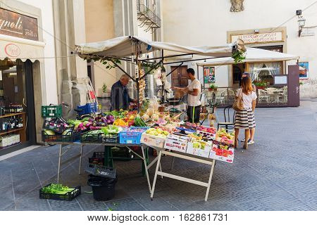 Market Stall In The Old Town Of Florence, Italy