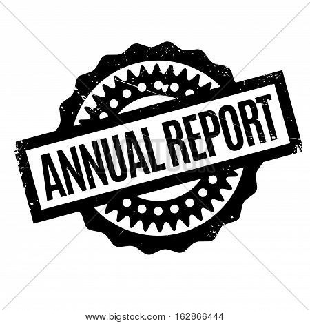 Annual Report rubber stamp. Grunge design with dust scratches. Effects can be easily removed for a clean, crisp look. Color is easily changed.
