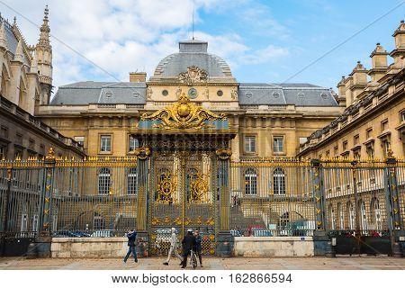 Palais De Justice On The Ile De La Cite In Paris