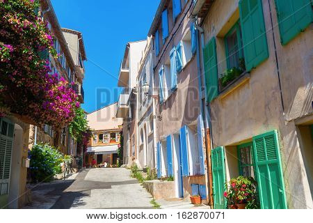 In The Old Town Of Saint Tropez, South France