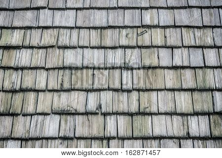 The Wooden roof shingles background and texture