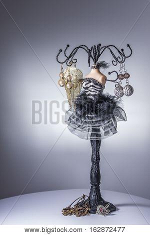 Black Balerina Jewelery Stand