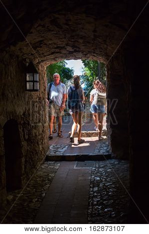 Medieval Underpass In Eze, South France