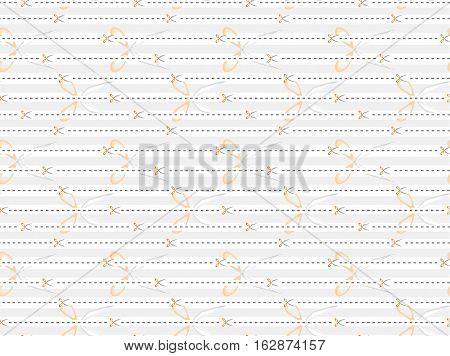 Scissors dotted line tile wallpaper pattern, vector illustration