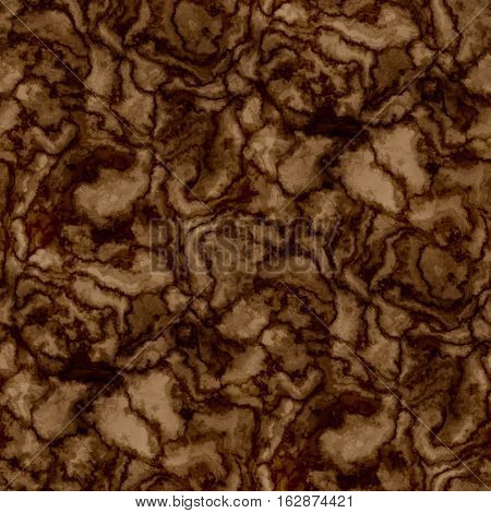 Beautiful brown curve marbling veined slices texture pattern