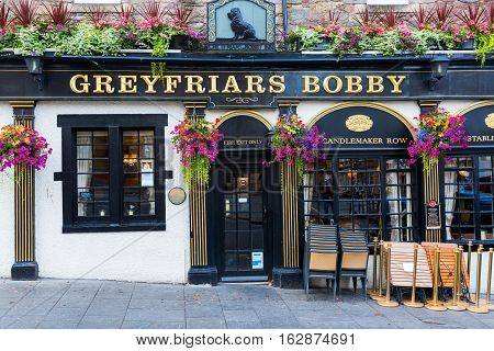 Pub At The Greyfriars Kirkyard In Edinburgh, Scotland
