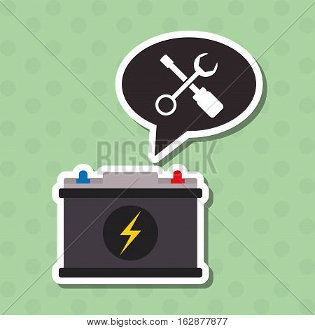 battery concept with icon design, vector illustration 10 eps graphic.