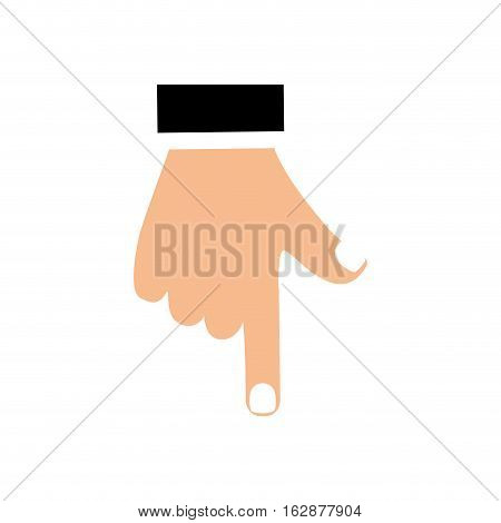 Hand Pointing Down Vector Photo Free Trial Bigstock