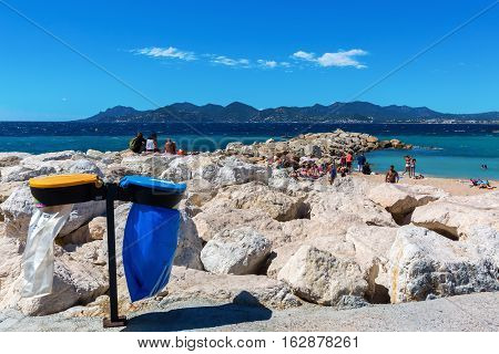 City Beach Of Cannes, French Riviera, France