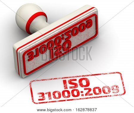 ISO 31000:2009. Seal and imprint. Red seal and imprint