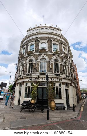 Pub At Commercial Street, Tower Hamlets, London, Uk