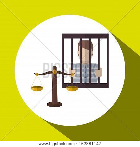 Law and Justice concept with icon design, vector illustration 10 eps graphic.