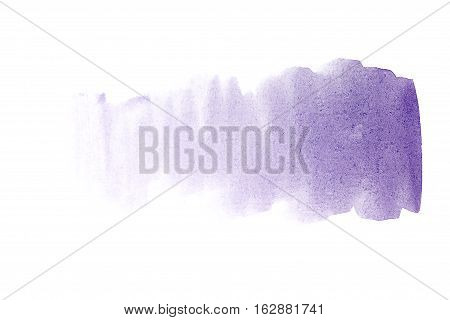 Blue watercolor background. The gradient color transition from a saturated blue to light blue. Design elements. Painting. Grunge colorful background on watercolor paper.