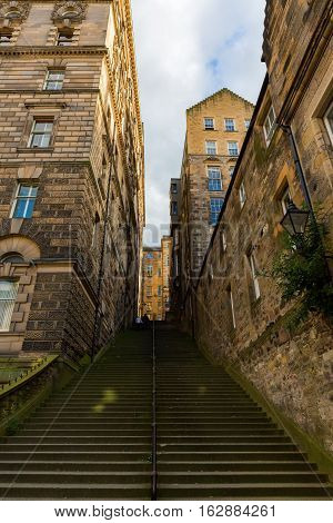 Stairs Of A Close In The Old Town Of Edinburgh, Scotland, Uk