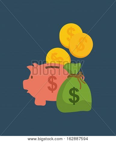money saving and investment icon vector illustration graphic design