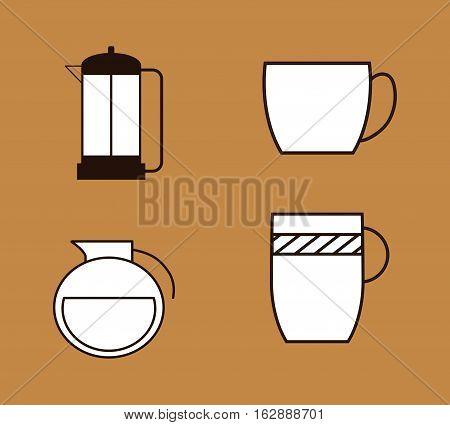 Coffee delicious drink icon vector illustration graphic design