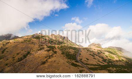 Radar station on Pico do Arieiro, Madeira, Portugal