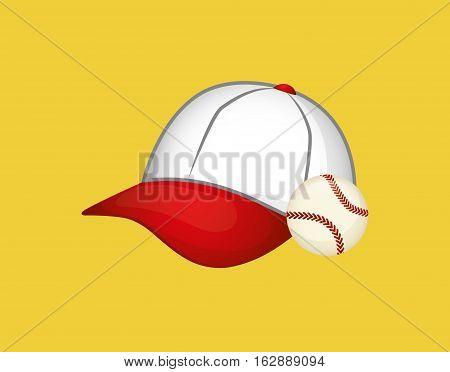 baseball hat ball icon vector illustration graphic design