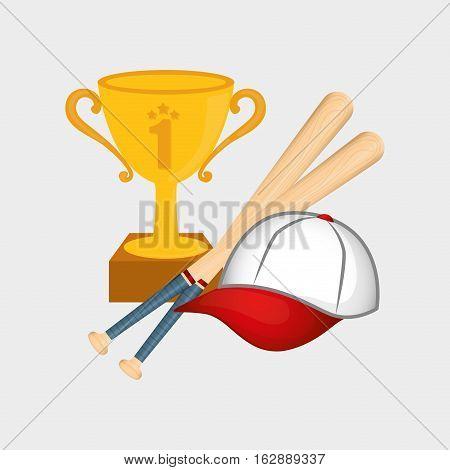 baseball cup hat bats icon vector illustration graphic design