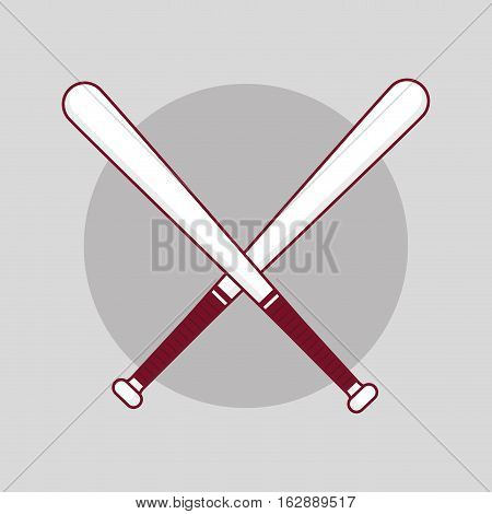 baseball sport bats icon vector illustration graphic design