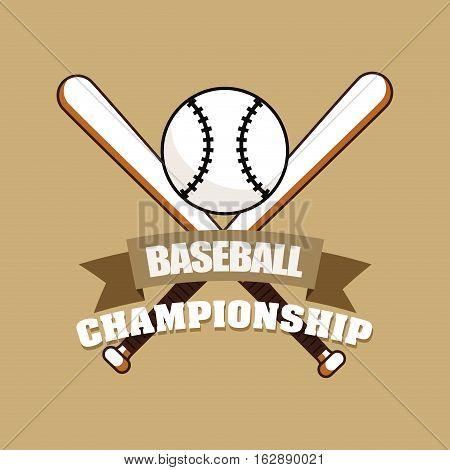 baseball championship ball bats icon vector illustration graphic design