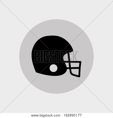 american football helmet icon vector illustration graphic design