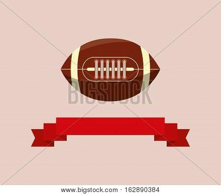 american football ball icon vector illustration graphic design