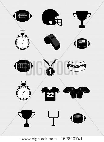 american football equipment icon vector illustration graphic design