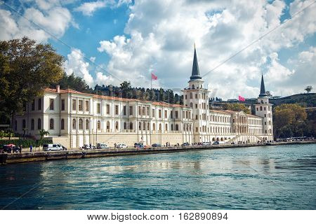 ISTANBUL - OCTOBER 10 2014: Kuleli Military High School is the oldest military high school in Turkeyon the Asian shore of the Bosphorus strait. It was founded in 1845 by Ottoman Sultan Abdulmecid I.