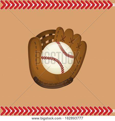 baseball ball glove icon vector illustration graphic design