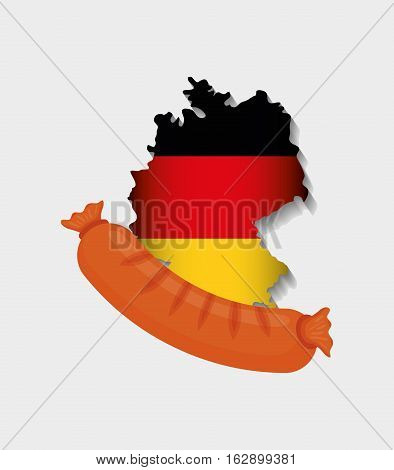 Sausage german food icon vector illustration graphic design