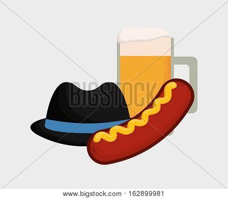 Sausage german food icon vector illustration graphic design