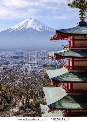 View Of Fujisan In Yamanashi, Japan