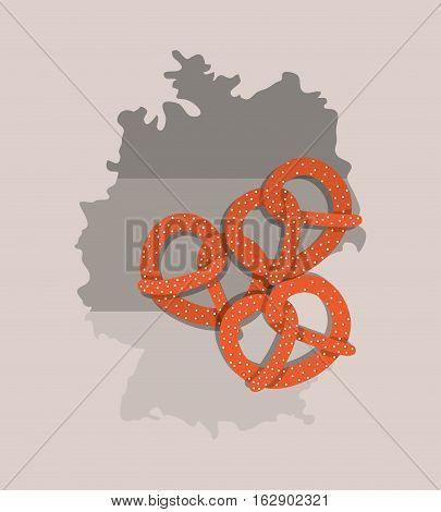 Pretzel german bread icon vector illustration graphic design