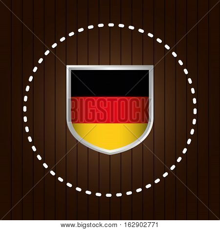german country flag icon vector illustration graphic design