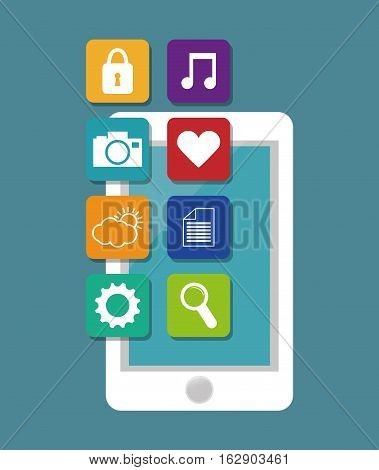 Mobile app technology icon vector illustration graphic design